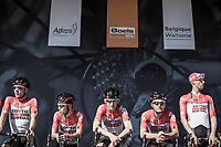 Team Lotto Soudal pre race team presentation<br /> <br /> 82nd La Fl&egrave;che Wallonne 2018<br /> 1 Day Race: Seraing - Huy (198,5km)