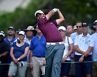 Bethesda, MD - June 27, 2014: Jason Day takes a tee shot on hole 3 in the second round of the Quicken Loans National at the Congressional Country Club in Bethesda, MD, June 27, 2014.  (Photo by Don Baxter/Media Images International)