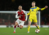 7th December 2017, Emirates Stadium, London, England; UEFA Europa League football, Arsenal versus BATE Borisov; Jack Wilshere of Arsenal runs past Vitali Rodionov of BATE Borisov