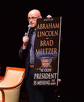 "FORT LAUDERDALE, FL - JUNE 12: Author Brad Meltzer host former U.S. President Bill Clinton and author James Patterson in a conversation about they new book "" The President is Missing"" hosted by at the Broward Center Au-Rene Theater on June 12, 2018 in Fort Lauderdale, Florida.  Credit: MPI10 / MediaPunch"