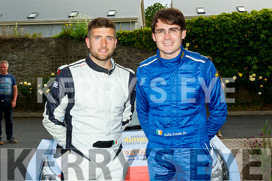 4 times British rally champion Keith Cronin from Ballylickey, Co Cork with his Killarney navigator Mikey Galvin, after winning the Circuit of Munster in a Hyundai i20 R5 rally car, last Sunday by a massive margin of 1minute and 55seconds, pictured outside the rally HQ, the Rathkeale House Hotel.