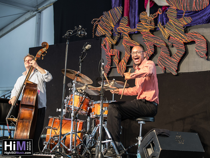 Ellis Marsalis performs at the 2014 Jazz and Heritage Festival in New Orleans, LA.
