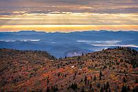 Autumn Sunrise over Graveyard Fields, Blue Ridge Parkway