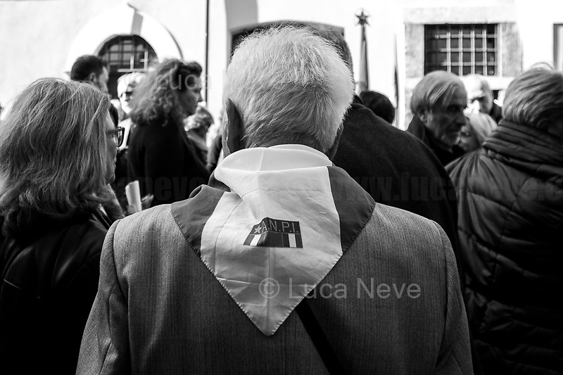 """Bella Ciao Tina Costa (Antifascist Partizan. Member of the Partigiani: the Italian Resistance during WWII).<br /> <br /> Rome, 22/03/2019. Today, a laic funeral was held at the Casa della Memoria e della Storia di Roma (House of Memory and History of Rome, 1.) to pay homage and respect to the Partizan and Member of the Italian Resistance during WWII, Tina Costa (2.), who passed away on the 20th of March 2019, at the age of 93. Tina Costa was a """"Staffetta Partigiana"""" - a Member of the Resistance against nazism and fascism - on the Gothic Line. After the end of WWII, Tina Costa became a member of the Italian Communist Party PCI until its dissolution in 1991. Soon after, she joined the newly formed Rifondazione Comunista party. In the meantime, Tina Costa has been a member of the board of the Associazione Nazionale Partigiani d'Italia ANPI (National Association of Italian Partizans, Members of the Italian Resistance), a tireless antifascist activist fighting and supporting the most deprived people in society, the minorities, and constantly sharing with people and students the lessons of Antifascism and of the Resistance.<br /> <br /> Footnotes and Links:<br /> 1. https://bit.ly/2UaGbLb<br /> 2. Some of my photos of Tina Costa can be found here: <br /> - https://bit.ly/2HgKFVZ (Mai Piú Fascismi Mai Piú Razzismi Demo) <br /> - https://bit.ly/2kO5wqg (25 Aprile - Liberation/Freedom Day) <br /> - https://bit.ly/2u1pMJj (In a School: """"Distretto dei Diritti e della Costituzione"""") <br /> - https://bit.ly/2FQPaZg (Roma Pride) <br /> - https://bit.ly/2CPJyfQ (Renoize Festival) <br /> - https://bit.ly/2qC4ZuE (Opposing fascists at San Lorenzo) <br /> - https://bit.ly/2VfUTx6 (Mario Fiorentini: 100th Birthday) <br /> - https://bit.ly/2uL8bpz (Demo for Social Justice & Solidarity, Against mafias, Inequality, Racism)<br /> - https://bit.ly/2YKt6qz (Roma & Romans)"""