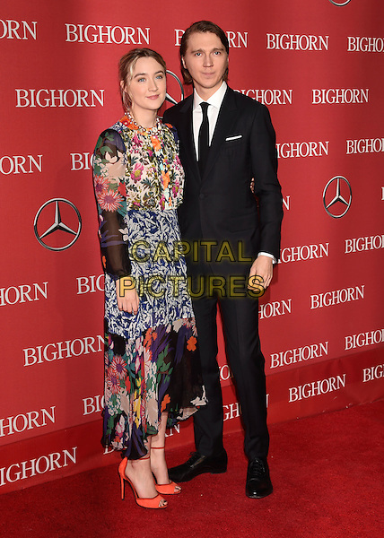 PALM SPRINGS, CA - JANUARY 02: Actress Saoirse Ronan (L) and actor Paul Dano attend the 27th Annual Palm Springs International Film Festival Awards Gala at Palm Springs Convention Center on January 2, 2016 in Palm Springs, California.<br /> CAP/ROT/TM<br /> &copy;TM/ROT/Capital Pictures
