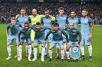 Manchester City pre match team photo during the UEFA Champions League match between Manchester City and Barcelona at the Etihad Stadium, Manchester, England on 1 November 2016. Photo by PRiME Media Images.