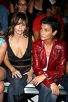 GINA GERSHON AND INGRID CASARES  2003 <br /> MERCEDES-BENZ FASHION WEEK-<br /> MARC JACOBS 2004 SPRING COLLECTION.<br /> NEW YORK CITY.<br /> Photo By John Barrett/PHOTOlink/MediaPunch
