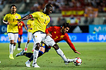 Cristian Eduardo Zapata of Colombia competes for the ball with Alvaro Morata of Spain during the friendly match between Spain and Colombia at Nueva Condomina Stadium in Murcia, jun 07, 2017. Spain. (ALTERPHOTOS/Rodrigo Jimenez)