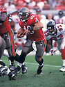 Tampa Bay Buccaneers, Mike Alstott (40) during a game against the Atlanta Falcons on December 8, 2002 at the Raymond James Stadium in Tampa, Florida. The Buccaneers beat the Falcons 34-10. Mike Alstott played for 11 years all with the Buccaneers and was a 6-time Pro-Bowler.