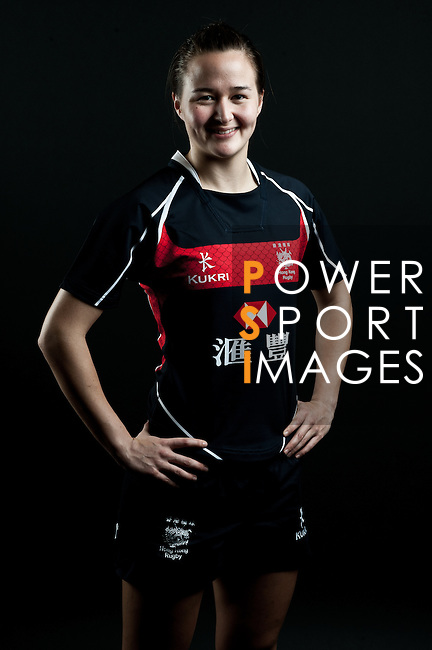 Colleen Tjosvold poses during the Hong Kong 7's Squads Portraits on 5 March 2012 at the King's Park Sport Ground in Hong Kong. Photo by Andy Jones / The Power of Sport Images for HKRFU