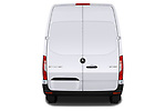 Straight rear view of 2019 Mercedes Benz Sprinter - 2 Door Cargo Van Rear View  stock images