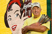 Coca-Cola mural painter Andy Thompson