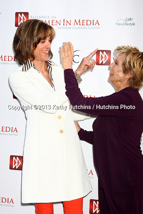 LOS ANGELES - APR 23:  Wendie Malick, Cloris Leachman arrives at the 2013 Genii Awards presented by the Aliance for Women in Media at the Skirball Cultural Center on April 23, 2013 in Los Angeles, CA