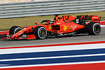 Scuderia Ferrari Mission Winnow driver Sebastian Vettel (5) of Germany in action during the Formula 1 Emirates United States Grand Prix practice session held at the Circuit of the Americas racetrack in Austin,Texas.