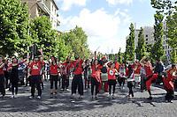 Roma, 25 aprile 2012.Corteo per la Liberazione dal nazifascismo..La murga