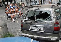 Napoli Piazza Sanita dove e stato colpito mortalmente Gennaro Cesarano un ragazzo di diciasette anni
