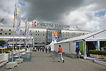 The Hague, Netherlands, June 05: View of the Kyocera Stadium from the Stadium Plaza on June 5, 2014 during the World Cup 2014 at Kyocera Stadium in The Hague, Netherlands. (Photo by Dirk Markgraf / www.265-images.com) *** Local caption ***
