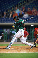 Daytona Tortugas right fielder Aristides Aquino (99) during a game against the Clearwater Threshers on April 19, 2016 at Bright House Field in Clearwater, Florida.  Clearwater defeated Daytona 4-1.  (Mike Janes/Four Seam Images)