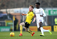 Burton Albion's Stephen Quinn battles with Coventry City's Lee Burge<br /> <br /> Photographer Mick Walker/CameraSport<br /> <br /> The EFL Sky Bet League One - Burton Albion v Coventry City - Saturday 17th November 2018 - Pirelli Stadium - Burton upon Trent<br /> <br /> World Copyright © 2018 CameraSport. All rights reserved. 43 Linden Ave. Countesthorpe. Leicester. England. LE8 5PG - Tel: +44 (0) 116 277 4147 - admin@camerasport.com - www.camerasport.com