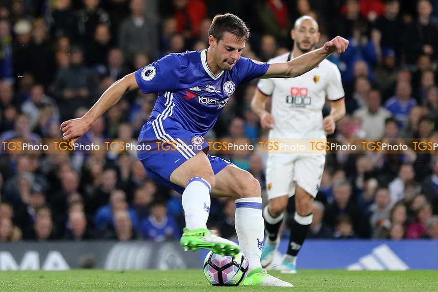 Cesar Azpilicueta of Chelsea in action during Chelsea vs Watford, Premier League Football at Stamford Bridge on 15th May 2017