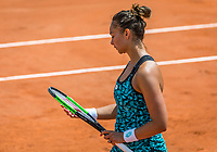 Paris, France, 30 May, 2018, Tennis, French Open, Roland Garros, Womans Doubles : Lesley Kerkhove (NED)<br /> Photo: Henk Koster/tennisimages.com