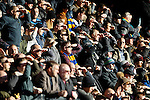 Notts County 0 Mansfield Town 0, 14/01/2017. Meadow Lane, League Two. Mansfield fans shield their eyes. Photo by Paul Thompson.