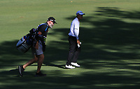 Nick Pugh (caddy) and Jazz Janewattananond (THA) in action on the 11th during Round 2 of the ISPS Handa World Super 6 Perth at Lake Karrinyup Country Club on the Friday 9th February 2018.<br /> Picture:  Thos Caffrey / www.golffile.ie<br /> <br /> All photo usage must carry mandatory copyright credit (&copy; Golffile | Thos Caffrey)