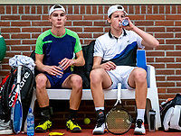 Wateringen, The Netherlands, December 15,  2019, De Rhijenhof , NOJK juniors doubles 12/14/16  years, Teun Rozenberg (NED) and Julius Bult (NED) (R)<br /> Photo: www.tennisimages.com/Henk Koster