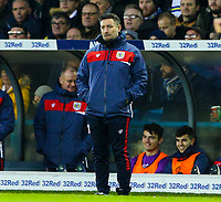 Bristol City manager Lee Johnson watches on from the technical area<br /> <br /> Photographer Alex Dodd/CameraSport<br /> <br /> The EFL Sky Bet Championship - Leeds United v Bristol City - Saturday 24th November 2018 - Elland Road - Leeds<br /> <br /> World Copyright &copy; 2018 CameraSport. All rights reserved. 43 Linden Ave. Countesthorpe. Leicester. England. LE8 5PG - Tel: +44 (0) 116 277 4147 - admin@camerasport.com - www.camerasport.com