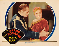 Mata Hari (1931) <br /> Lobby card<br /> *Filmstill - Editorial Use Only*<br /> CAP/KFS<br /> Image supplied by Capital Pictures