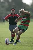 S. Kennedy taking a penalty kick at goal. Counties Manukau Premier Club Rugby, Waiuku vs Patumahoe played at Rugby Park, Waiuku on the 8th of April 2006. Waiuku won 18 - 15