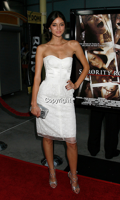 "HOLLYWOOD, CA. - September 03: Caroline D'Amore arrives at the Los Angeles premiere of ""Sorority Row"" at the ArcLight Hollywood theater on September 3, 2009 in Hollywood, California."