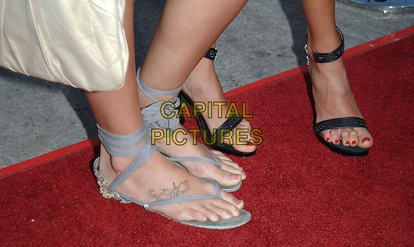 "CAROLINE D'AMORE'S FEET.""House of Wax"" Los Angeles Premiere held at Mann Village Theatre, Beverly Hills, California.April 26th, 2005.Photo Credit: Jacqui Wong/AdMedia.feet sandals tattoo toes straps .www.capitalpictures.com.sales@capitalpictures.com.© Capital Pictures."