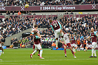 Angelo Ogbonna of West Ham clears a cross during West Ham United vs Burnley, Premier League Football at The London Stadium on 10th March 2018