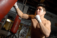 AJ Alexander - Olympic Gold Medalist Henry Cejundo is training in boxing as part of his Mix Martial Arts venture as a pro fighter, in Phoenix, Az..Photo by AJ Alexander.