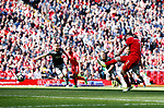 James Milner of Liverpool takes a penalty thats as saved by Fraser Forster of Southampton during the English Premier League match at Anfield Stadium, Liverpool. Picture date: May 7th 2017. Pic credit should read: Simon Bellis/Sportimage