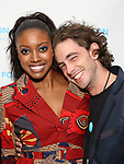 Condola Rashad and Sebastian Vallentin Stenhøj attend the SDC Foundation presents The Mr. Abbott Award honoring Kenny Leon at ESPACE on March 27, 2017 in New York City.