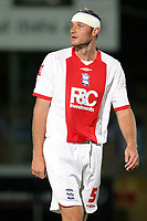 Martin Taylor of Birmingham City, formerly of Blackburn Rovers, suffered a head injury during Wycombe Wanderers vs Birmingham City, Carling Cup Football at Adams Park on 13th August 2008