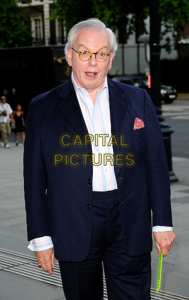 DAVID STARKEY.HarperCollins Publisher Summer Party, Victoria & Albert Museum, London, England..July 1st, 2008.V&A V & A Harper Collins half length black blue suit mouth open glasses .CAP/CAN.©Can Nguyen/Capital Pictures.