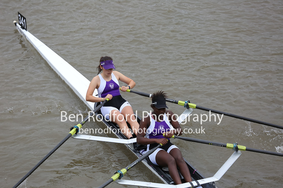 Crew: 341   PHS E    Putney High School Rowing Club    W J18 2x Club <br /> <br /> Pairs Head 2017<br /> <br /> To purchase this photo, or to see pricing information for Prints and Downloads, click the blue 'Add to Cart' button at the top-right of the page.