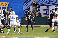 20 December 2011:  FIU wide receiver T.Y. Hilton (4) returns a kickoff in the first quarter as the Marshall University Thundering Herd defeated the FIU Golden Panthers, 20-10, to win the Beef 'O'Brady's St. Petersburg Bowl at Tropicana Field in St. Petersburg, Florida.