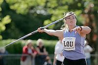 20 MAY 2007 - LOUGHBOROUGH, UK - Goldie Sayers (LOU) - Javelin - Loughborough International Athletics. (PHOTO (C) NIGEL FARROW)