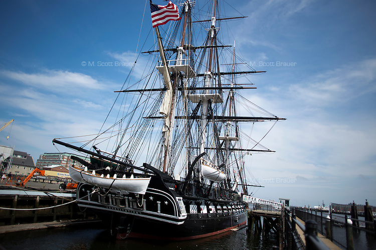 The USS Constitution, also known as Old Ironsides, is available for tours in the Charlestown Navy Yard in Charlestown, Boston, Massachusetts, USA. The ship is maintained by the US Navy.