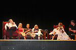 """Robert Forester, Cynthia Watros, Grant Aleksander, Tina Sloan, Emma Gilliland and Meredith Taylor - cast on stage with Guiding Light's Michael O'Leary author of """"Breathing Under Dirt"""" - full play - had its world premier on August 13 and 14, 2016 at the Ella Fitzgerald Performing Arts Center, University of Maryland Eastern Shore, Princess Anne, Maryland  (Photo by Sue Coflin/Max Photos)"""