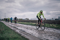 Boy van Poppel (NED/Trek-Segafredo)<br /> <br /> Team Trek-Segafredo during parcours recon of the 116th Paris-Roubaix 2018, 3 days prior to the race
