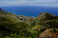 Anaga mountains in the north of Tenerife, Canary Islands, Spain.