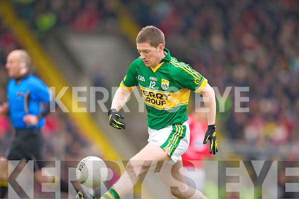 Kieran O'Leary Kerry in action against \\ Cork in the National Football League at Austin Stack park, Tralee on Sunday.