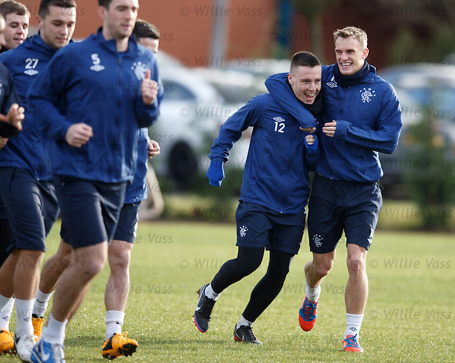 Barrie McKay and Dean Shiels