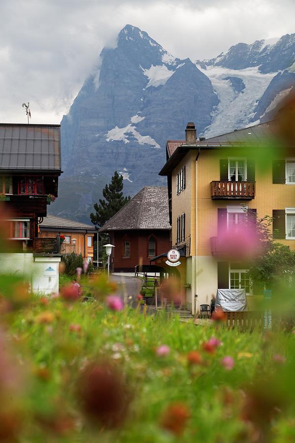 The Swiss mountain village of Mürren, Bernese Oberland, Switzerland