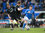 St Johnstone v Hibs...22.03.14    SPFL<br /> Michael O'Halloran and Liam Craig<br /> Picture by Graeme Hart.<br /> Copyright Perthshire Picture Agency<br /> Tel: 01738 623350  Mobile: 07990 594431